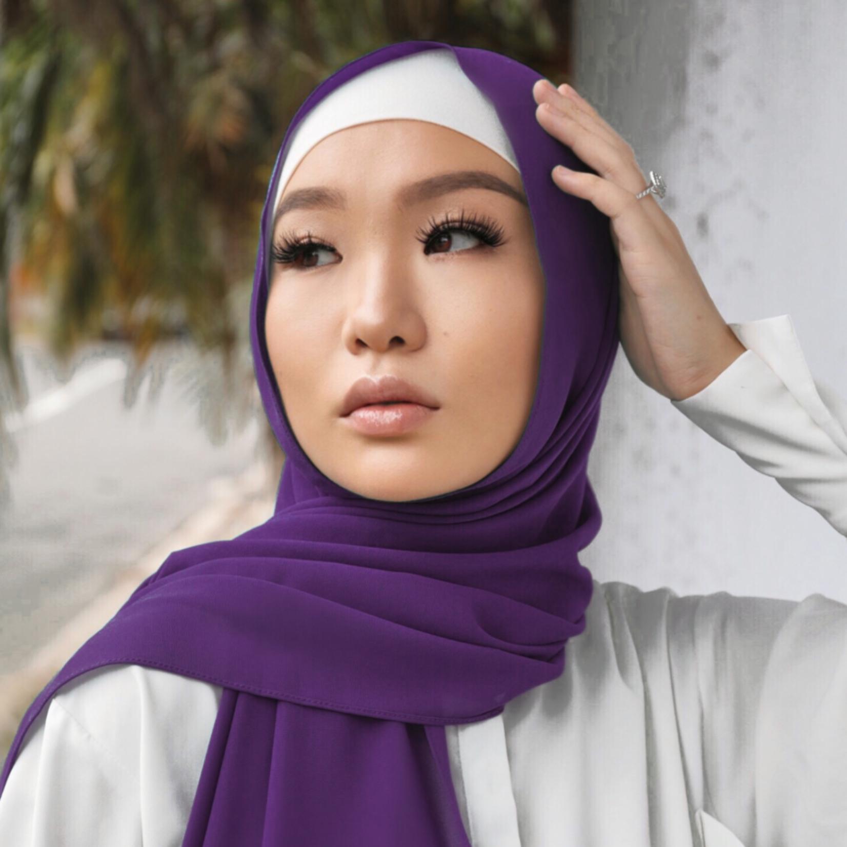Nasiba Fashion Shawl Medium Purple