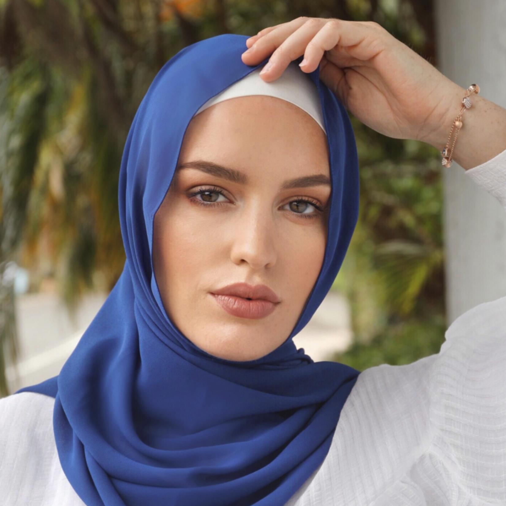 Nasiba Fashion Mid Blue LRG Scarf