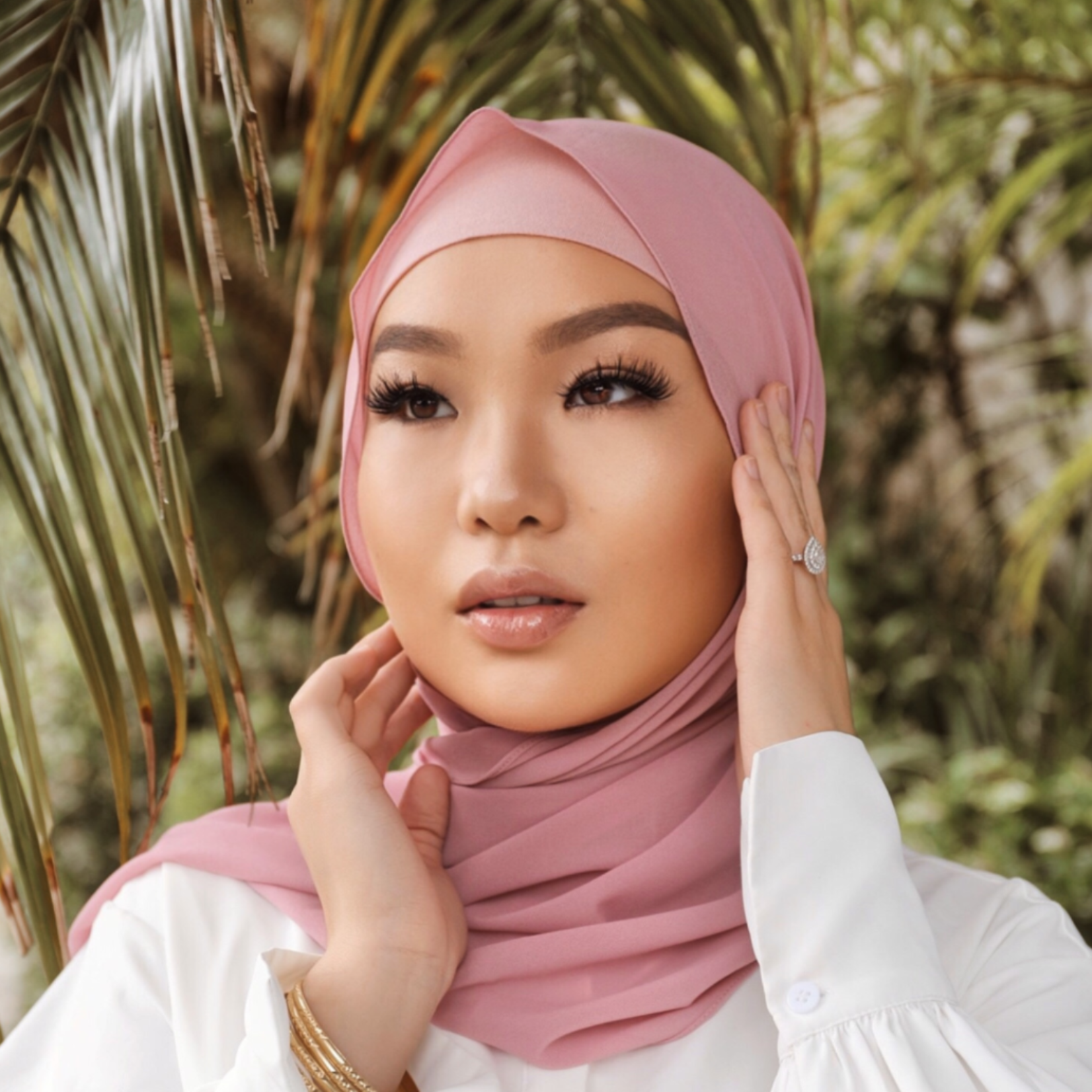 Nasiba Fashion Pink lemonade LRG scarf