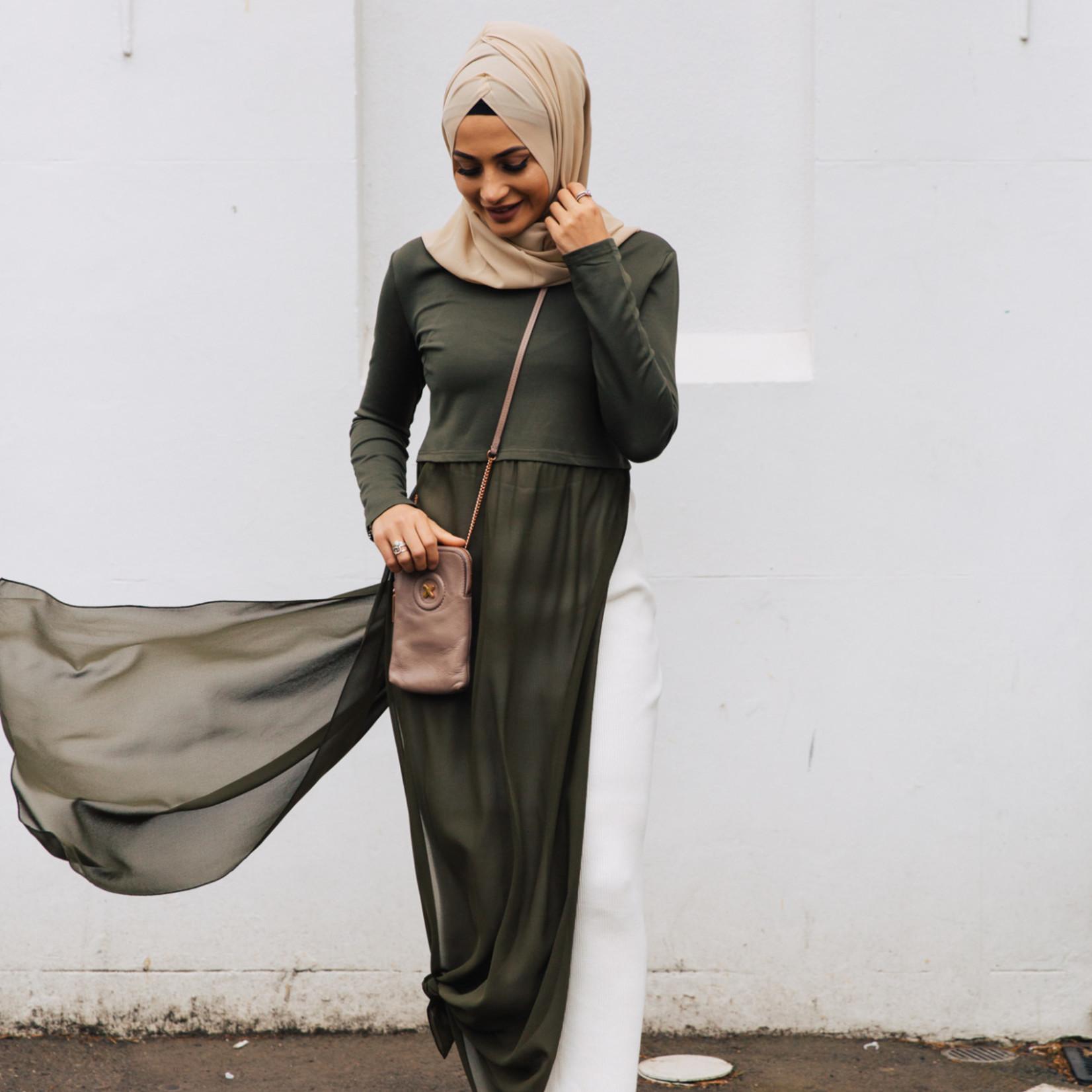 Nasiba Fashion Rosana Dress Khaki