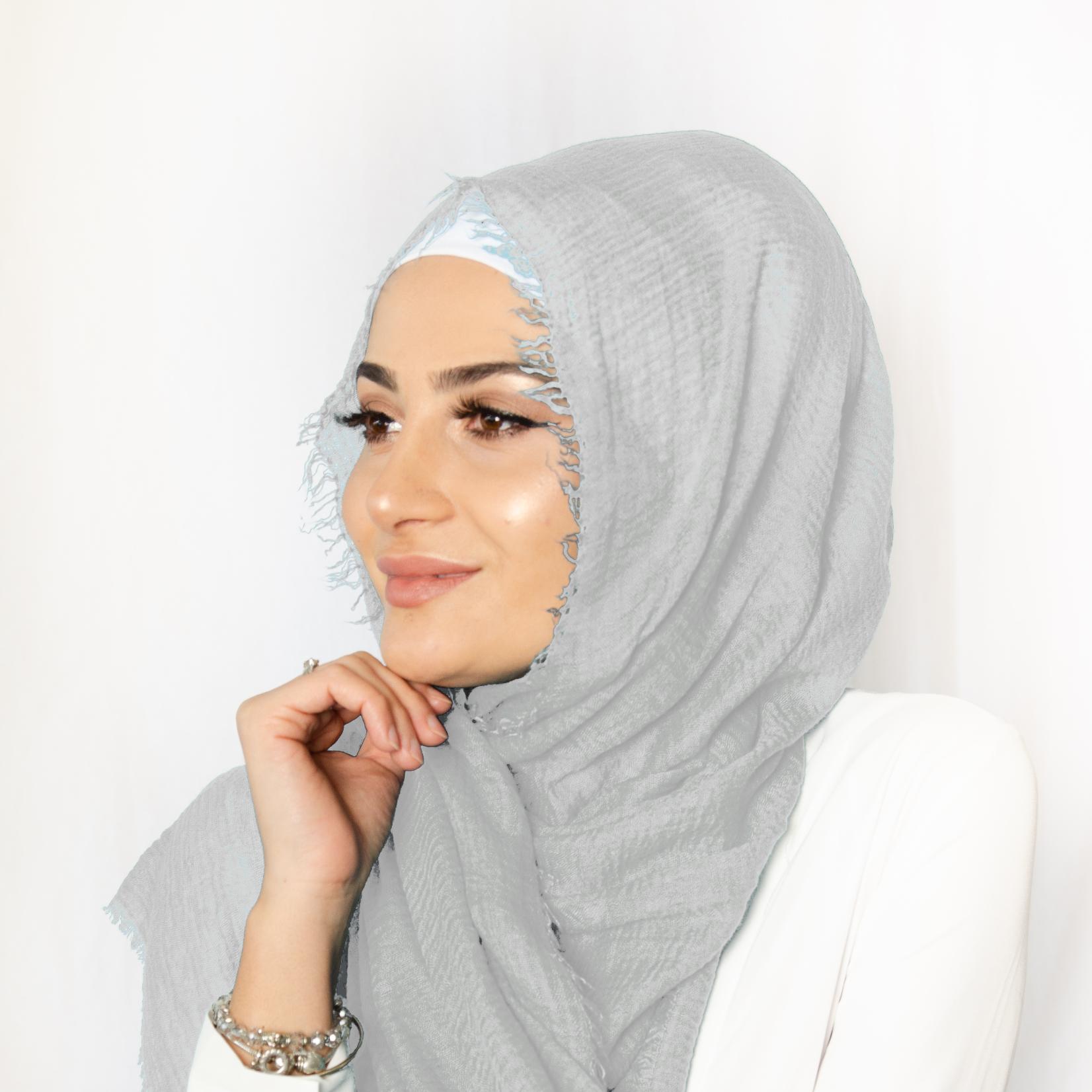 Nasiba Fashion Grey Cotton Crinkle