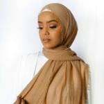 Nasiba Fashion Caramel Cotton Crinkle