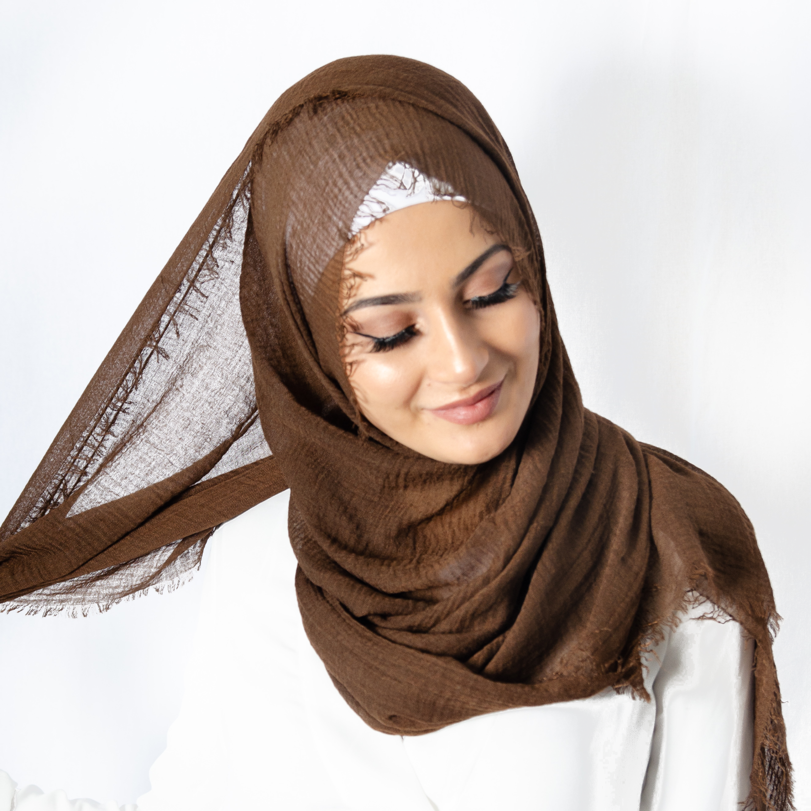 Nasiba Fashion Chocolate Cotton Crinkle