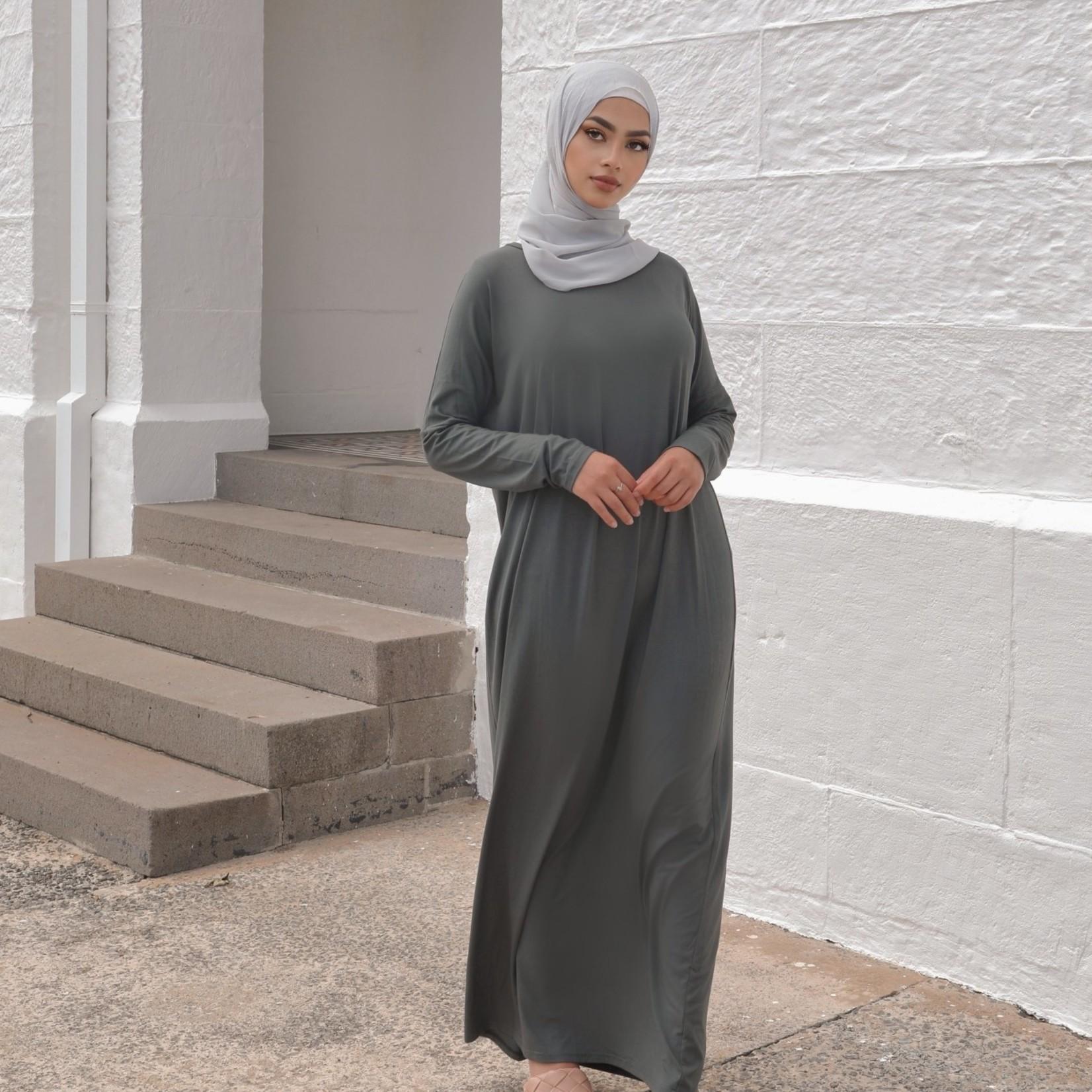 Nasiba Fashion Khaki Dolman Dress