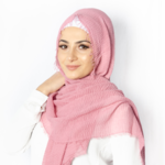 Nasiba Fashion Pink Lemonade Cotton Crinkle