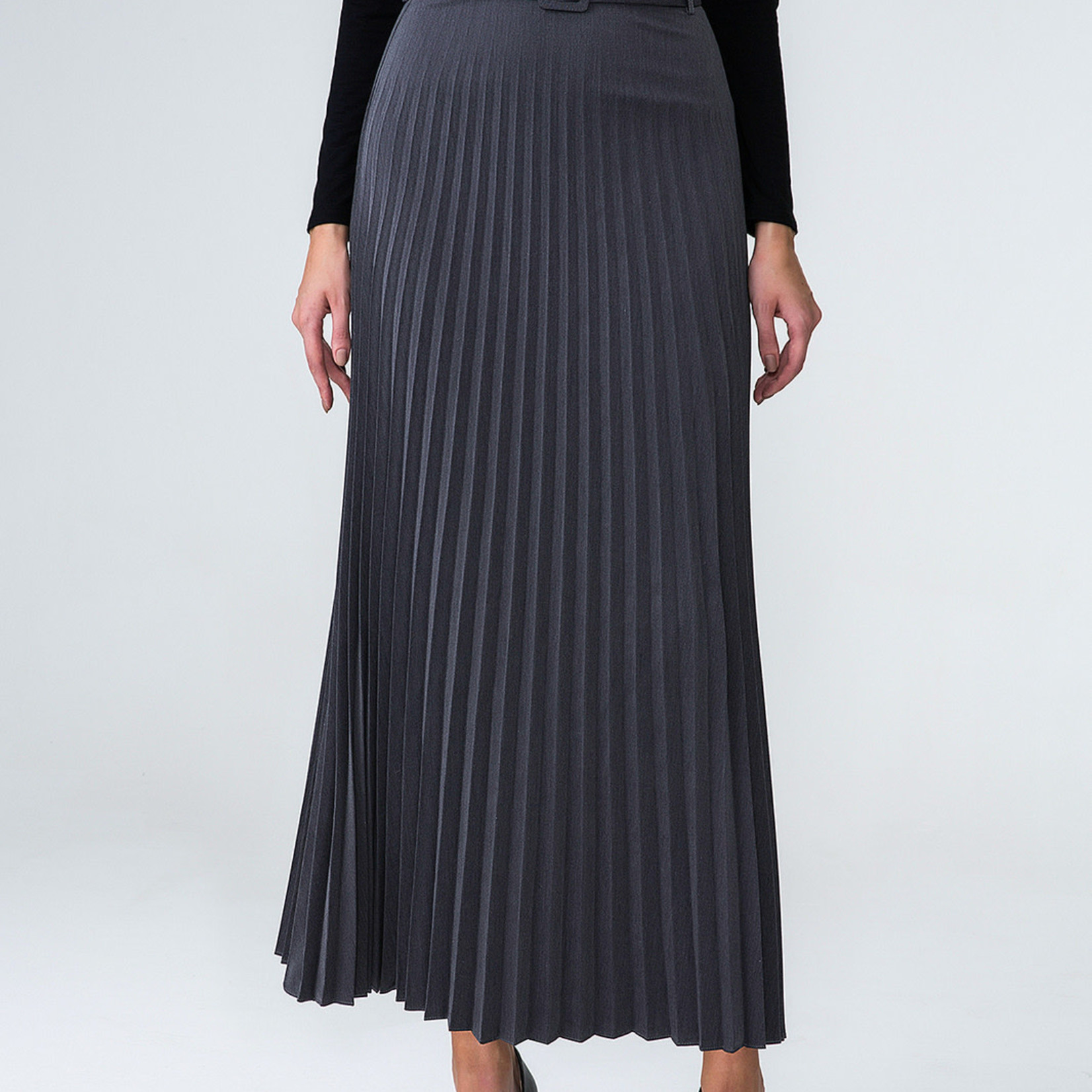 Hijab House Grey Pleated Skirt