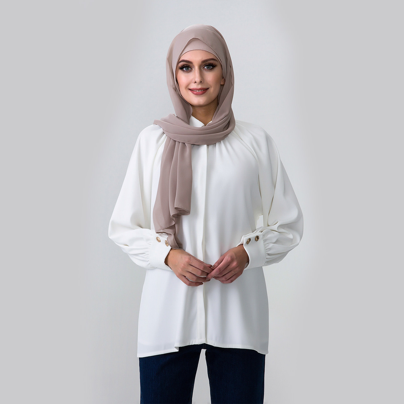Hijab House White Smock Shirt