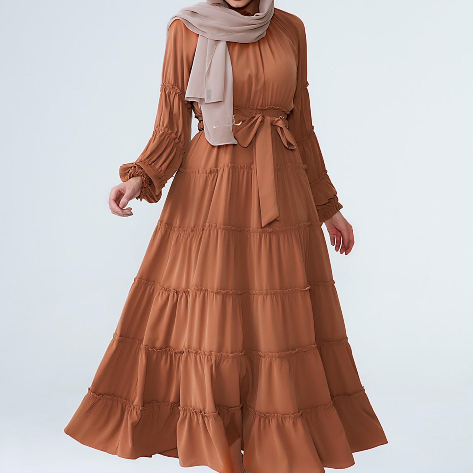 Hijab House Bronze Tiered Dress
