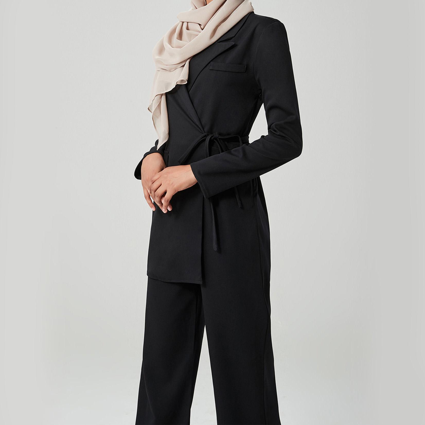 Hijab House Black Wrap jumpsuit