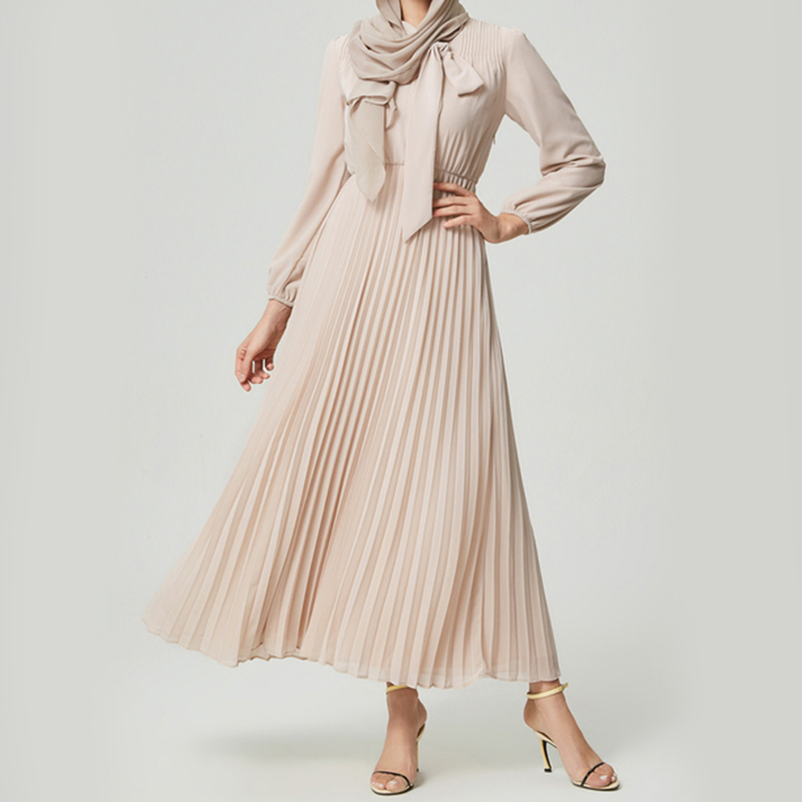 Hijab House Oyster Pleated Dress