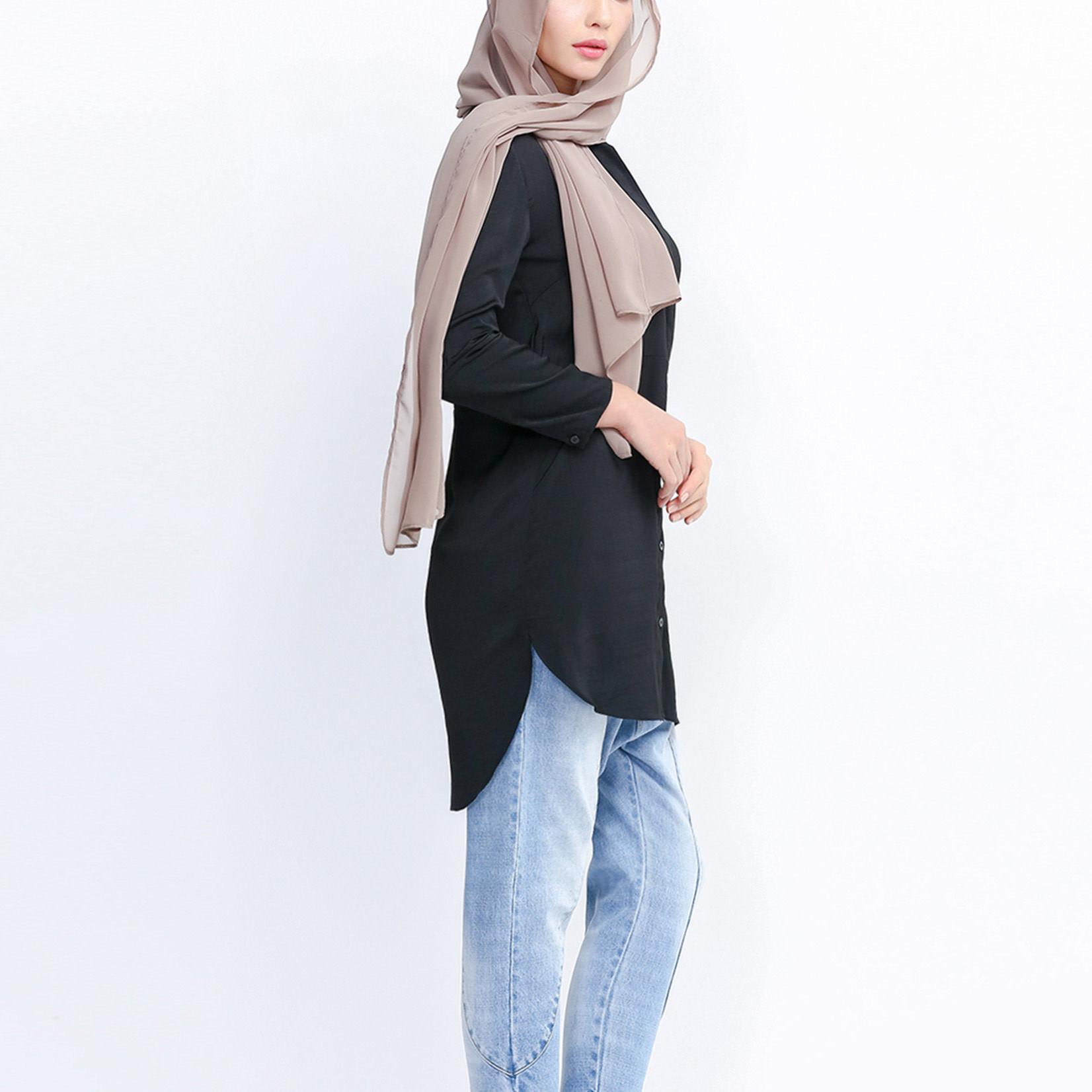 Hijab House Black Mod Shirt