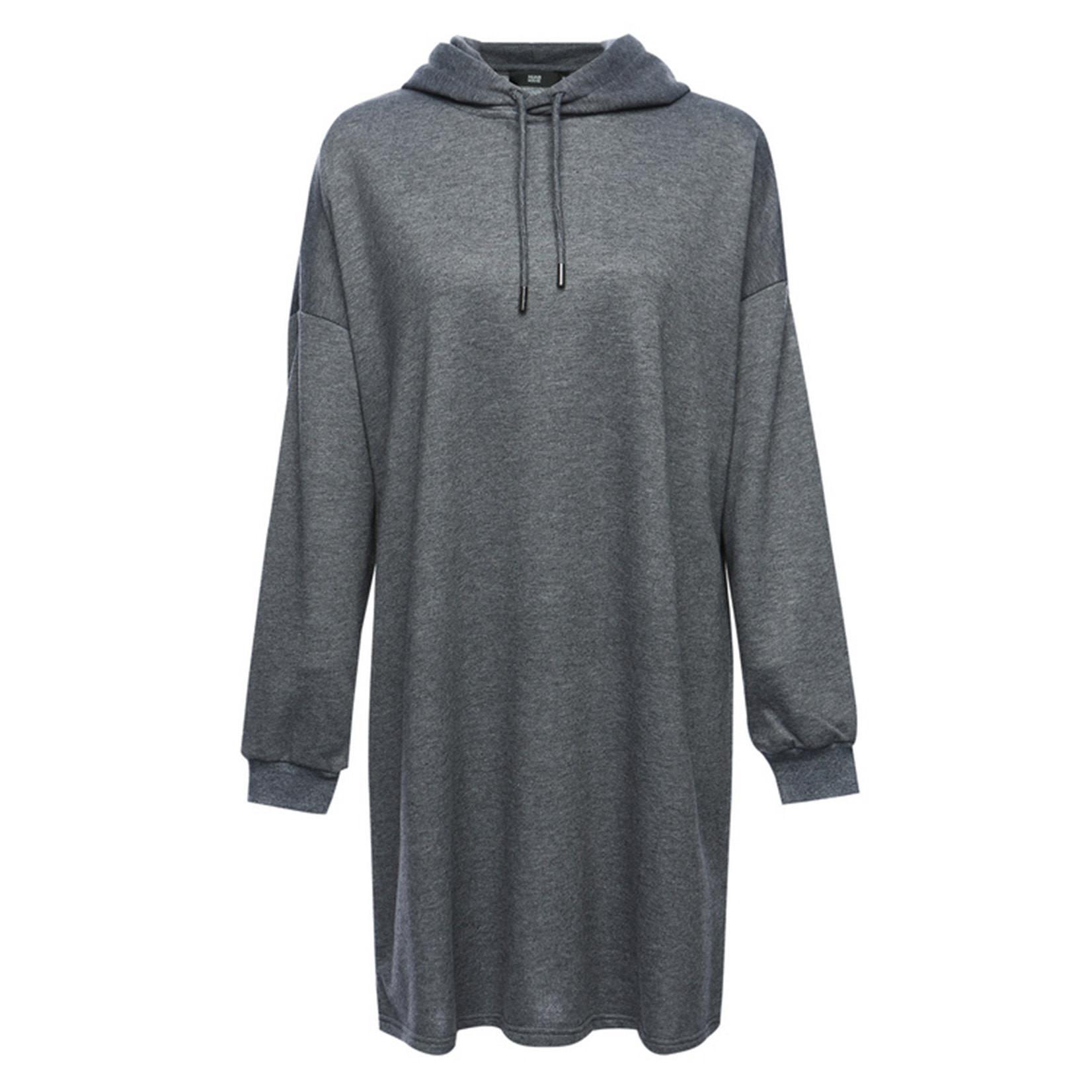 Hijab House Grey Long Hoodie