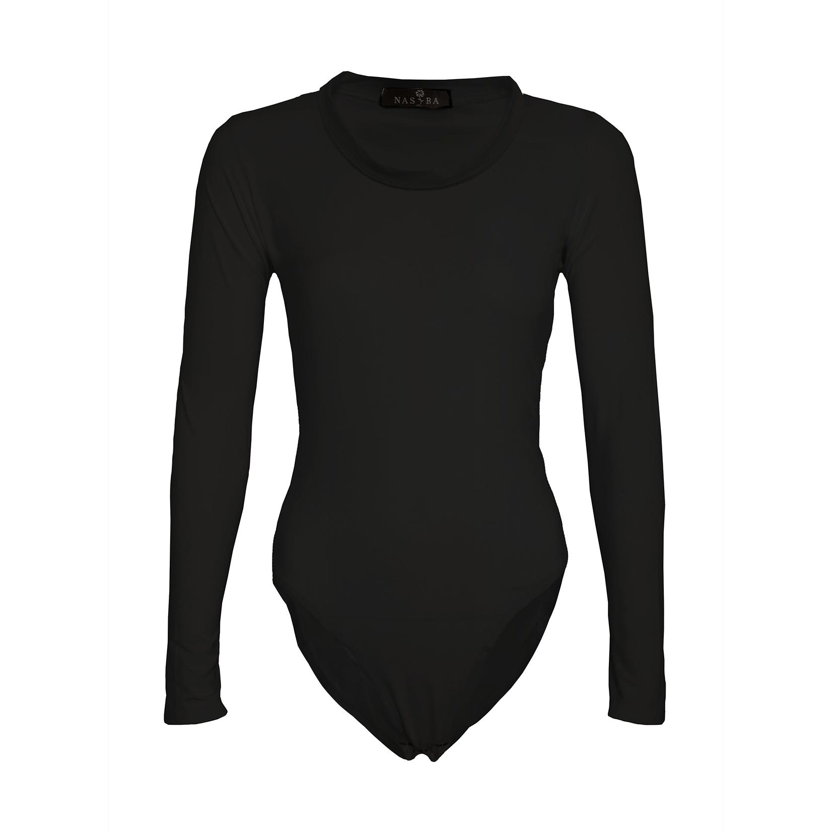 Nasiba Fashion Black Jersey Bodysuit