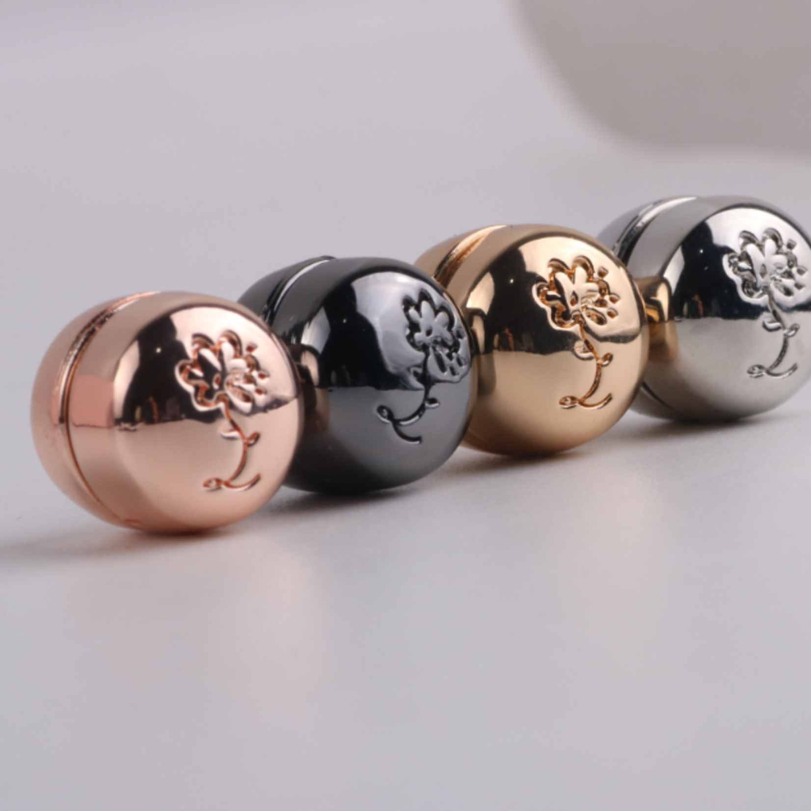 Nasiba Fashion Hijab Magnets  Metalic Rosegold