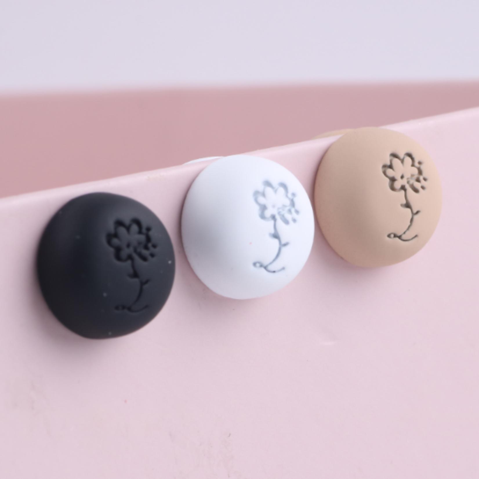 Nasiba Fashion Hijab Magnets  Matte White