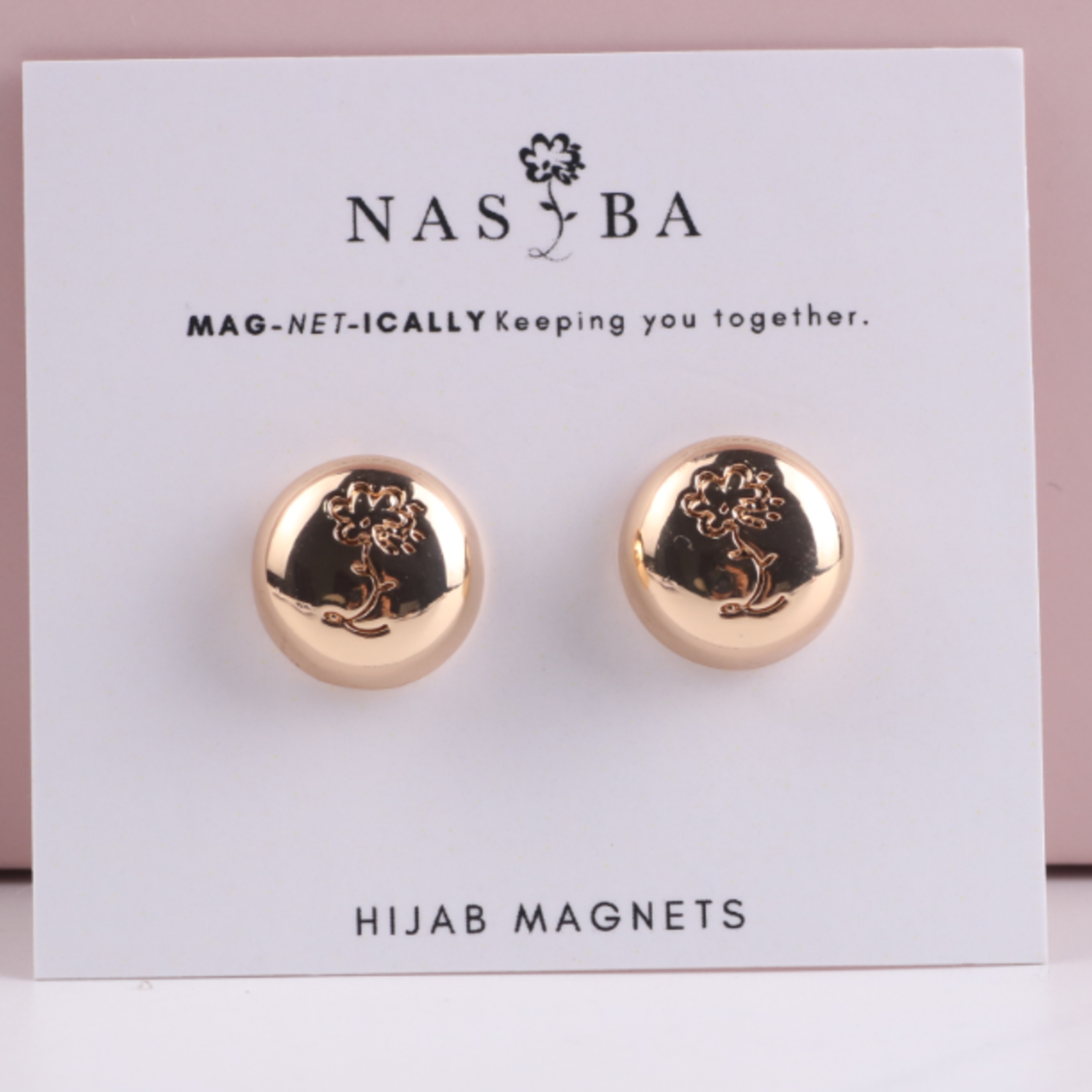 Nasiba Fashion Hijab Magnets  Metalic Gold