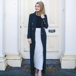 Nasiba Fashion Black Trellis Blazer