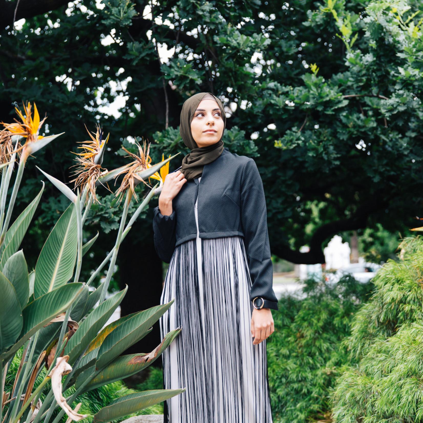 Nasiba Fashion Black Tassel Cardigan