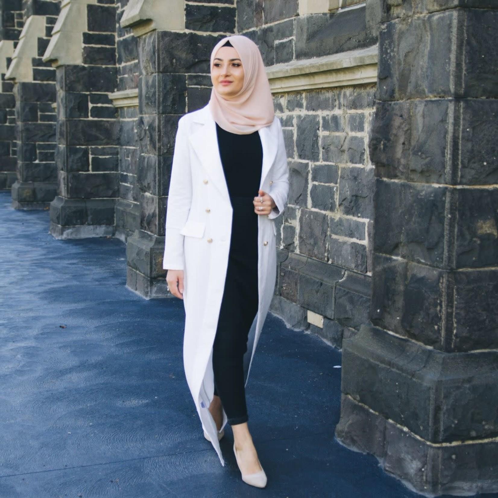 Nasiba Fashion White Trellis Blazer