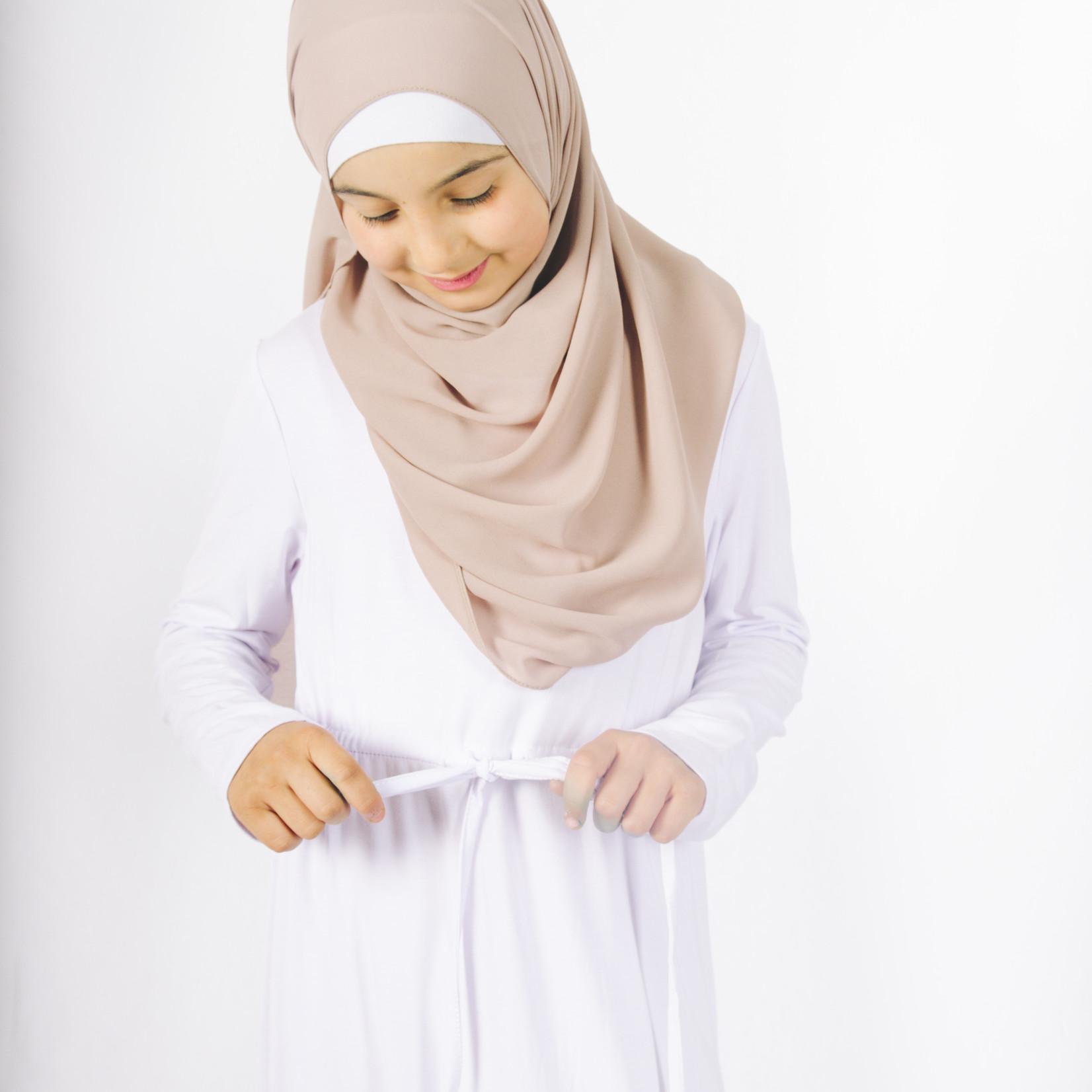Nasiba Fashion Girls White Babydoll Dress