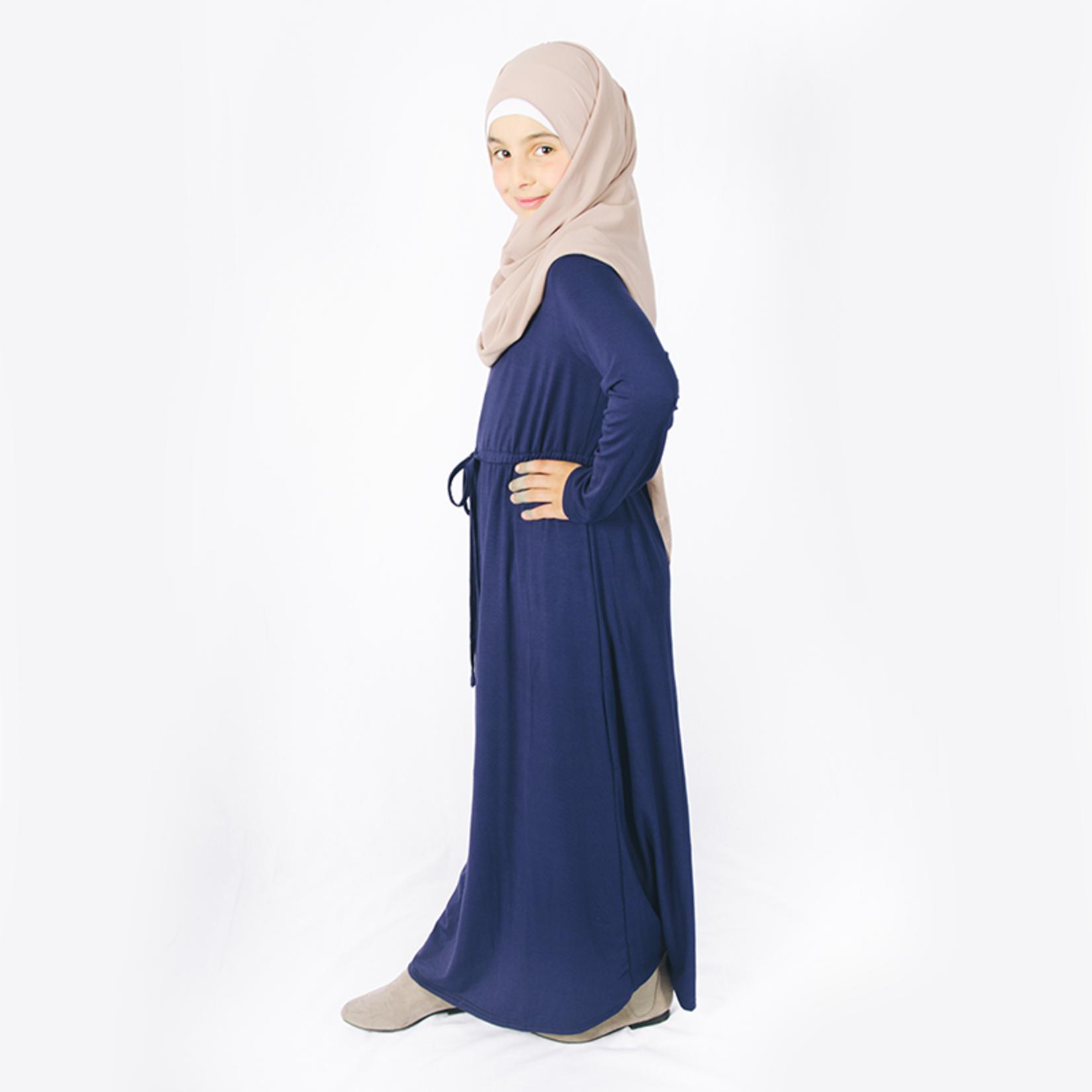 Nasiba Fashion Girls Navy Babydoll Dress