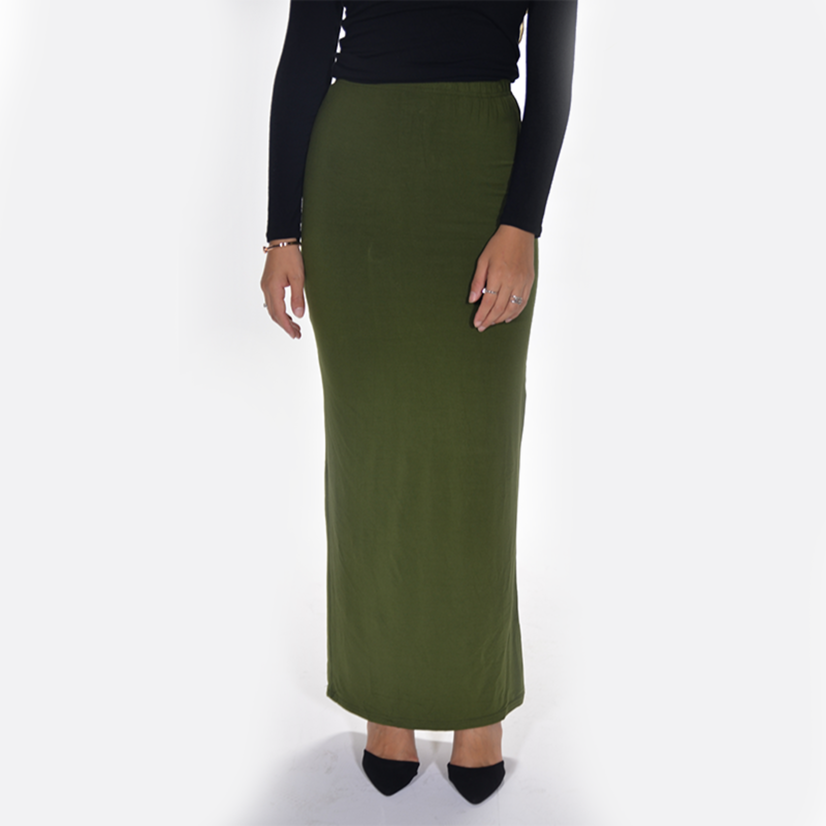 Nasiba Fashion Olive Jersey skirt