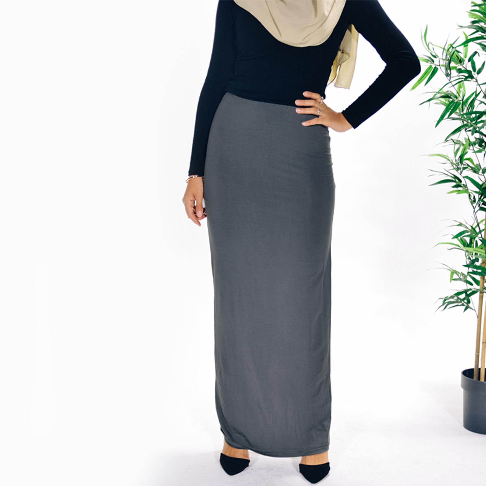 Nasiba Fashion Grey Jersey skirt