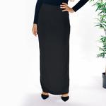 Nasiba Fashion Black Jersey skirt