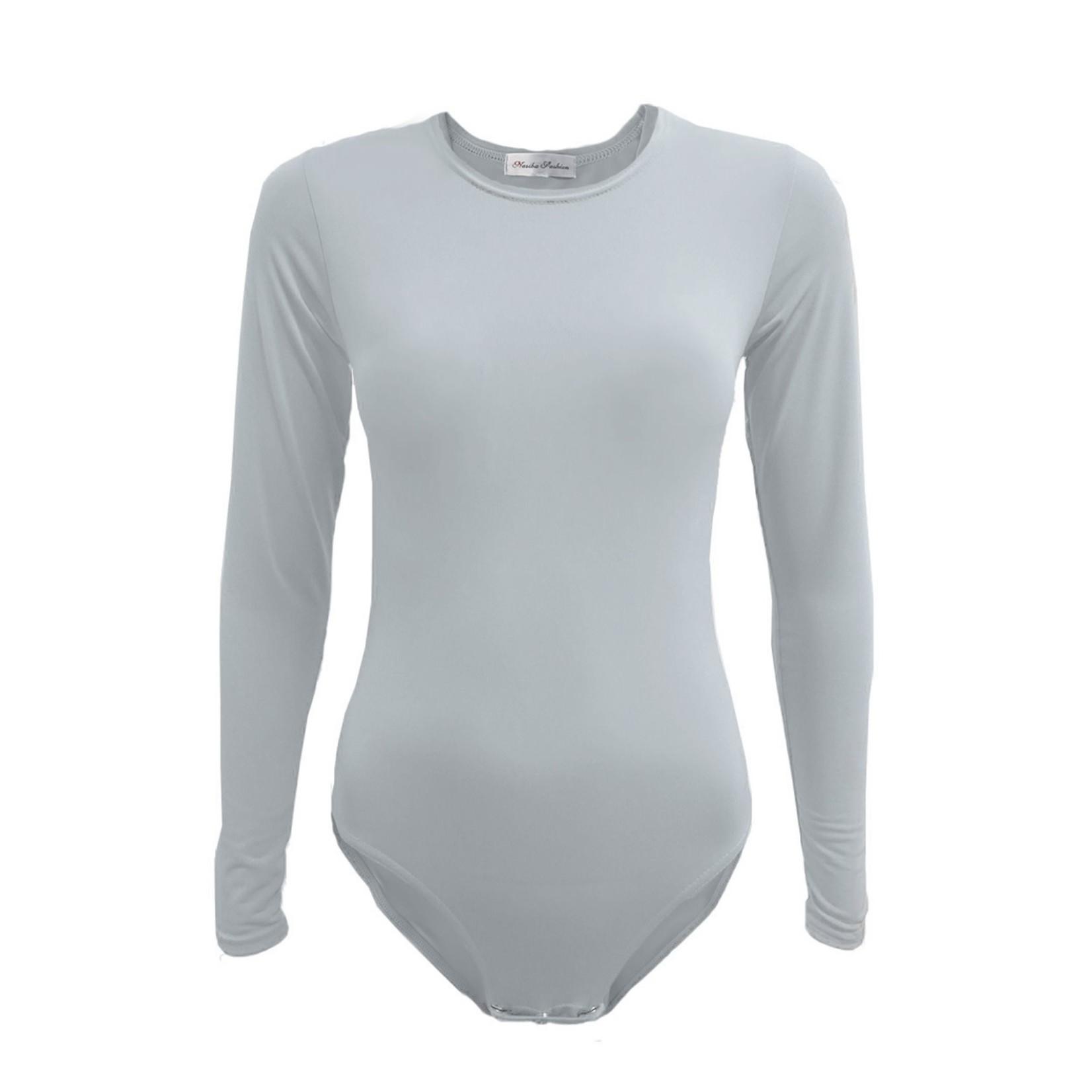 Nasiba Fashion Light Grey Bodysuit