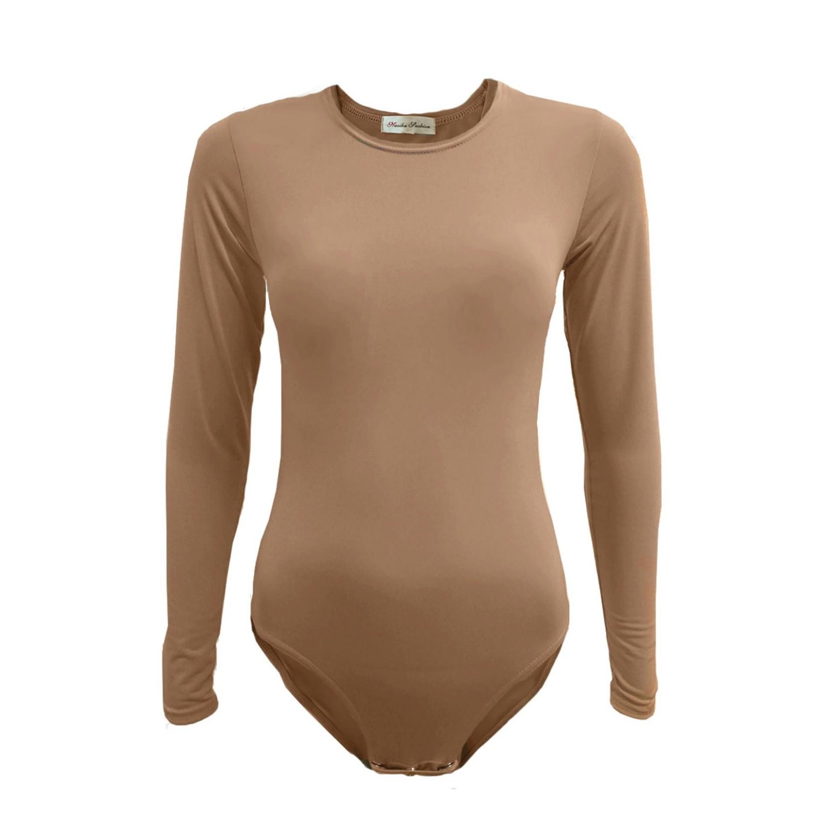 Nasiba Fashion Dark Pearwood Bodysuit