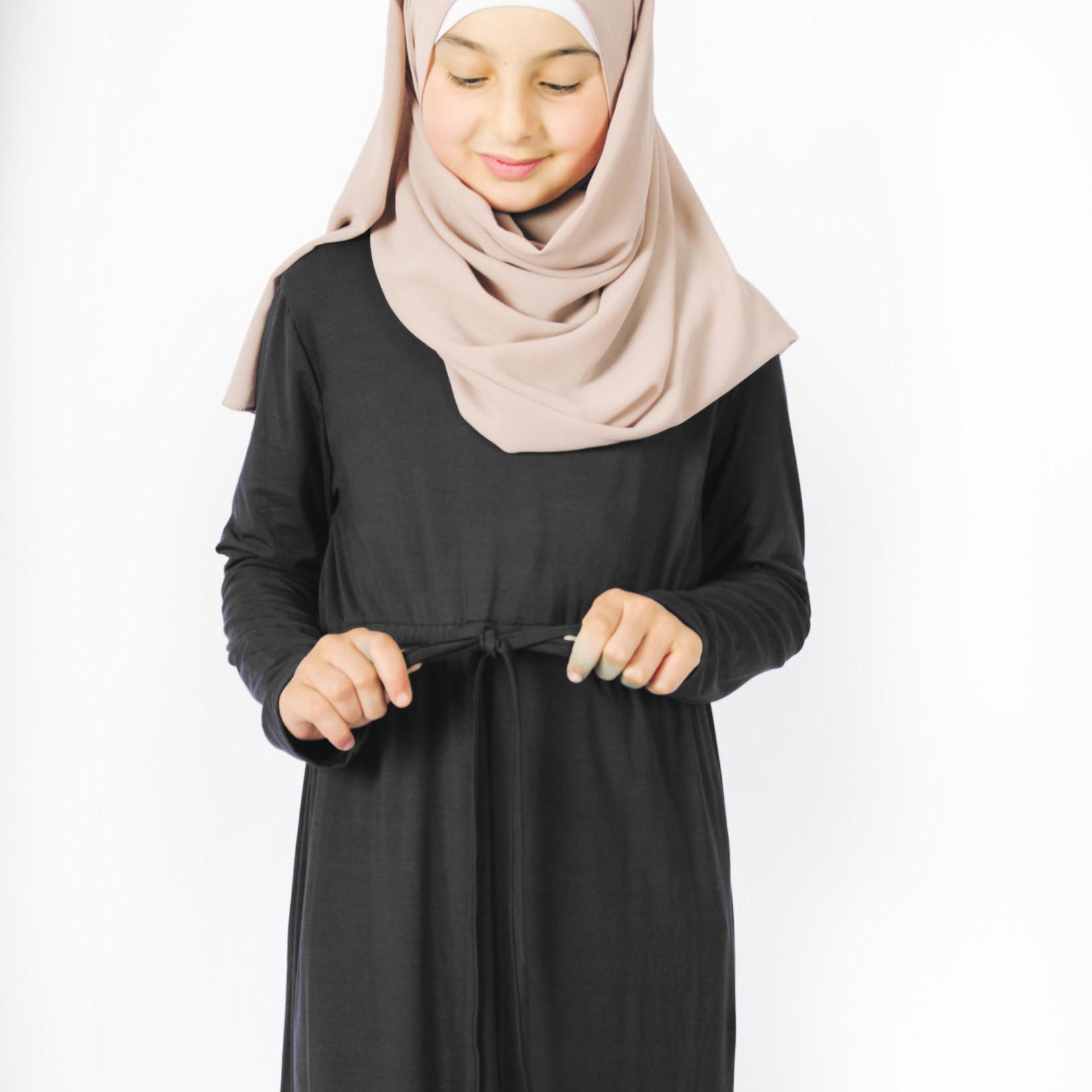 Nasiba Fashion Girls Black Babydoll Dress