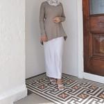 Nasiba Fashion White Jersey Skirt