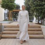 Hijab House Lace Trin Maxi Dress