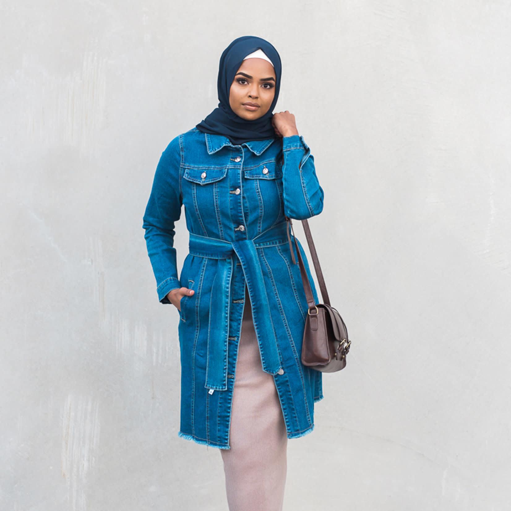 Nasiba Fashion Denim Trench