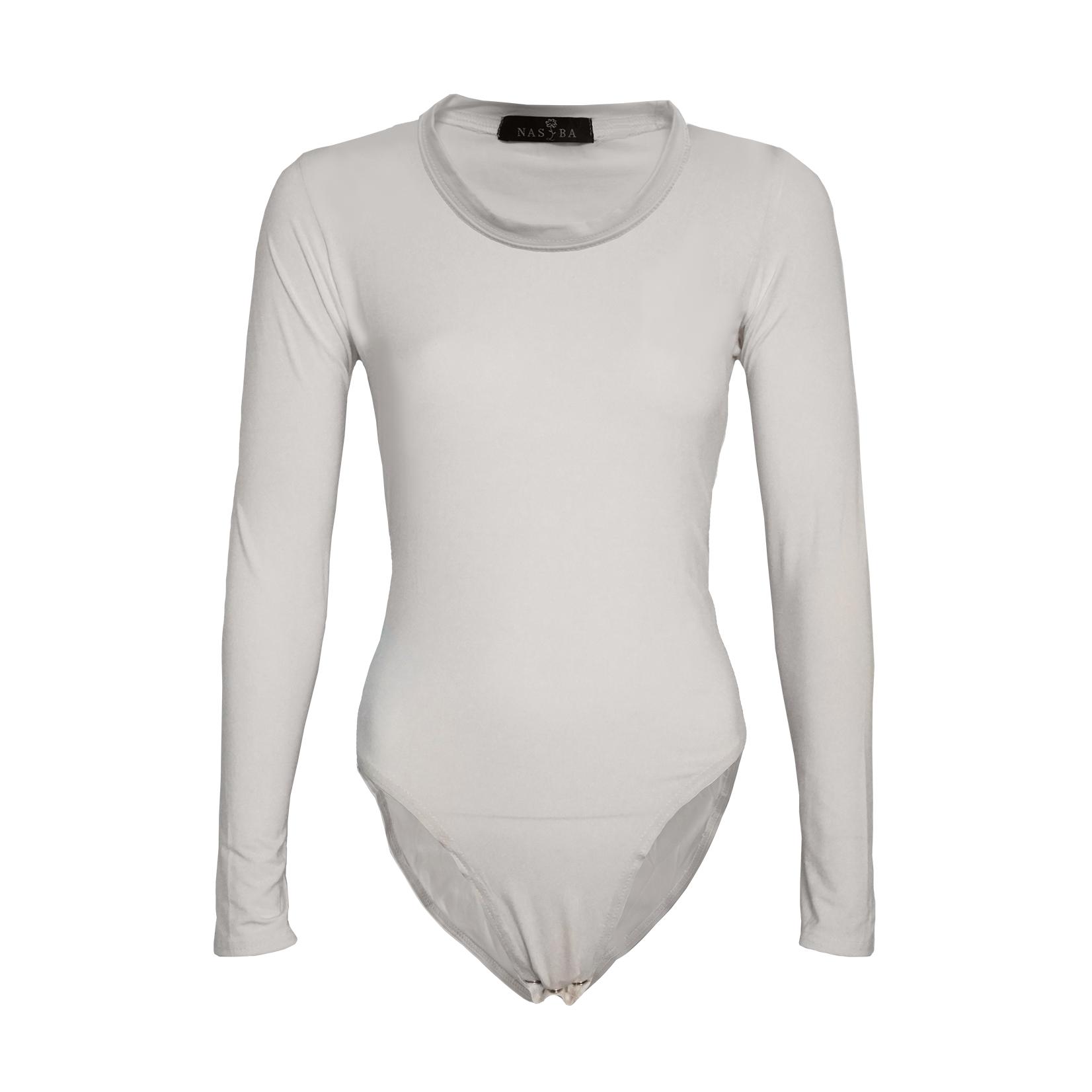 Nasiba Fashion Off-white Jersey Bodysuit