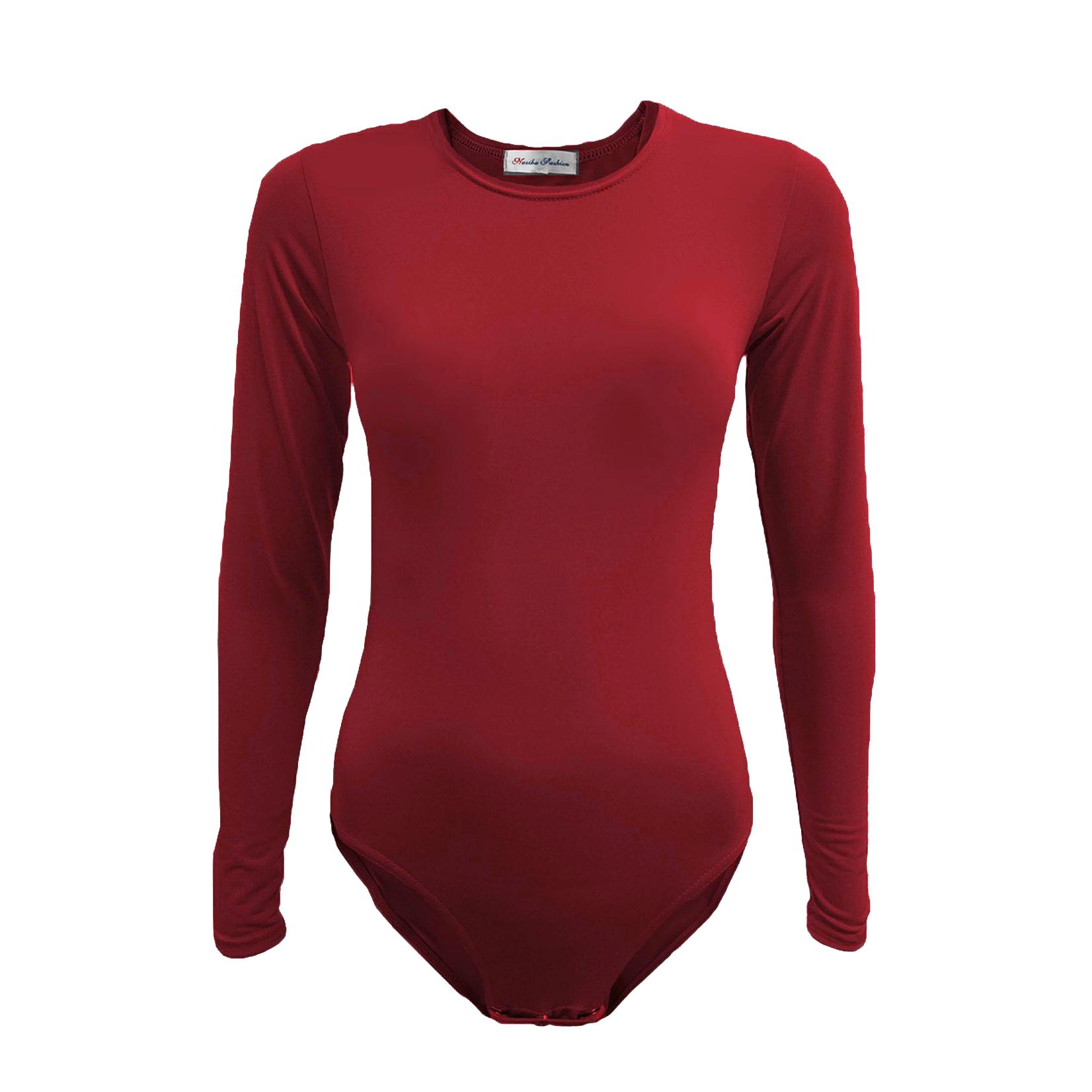 Nasiba Fashion Dark Red Bodysuit
