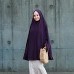 Nasiba Fashion Dark fig Jilbab