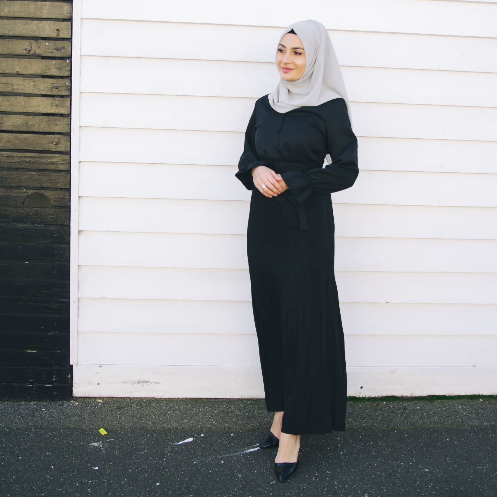 Nasiba Fashion Black Chelsea Dress