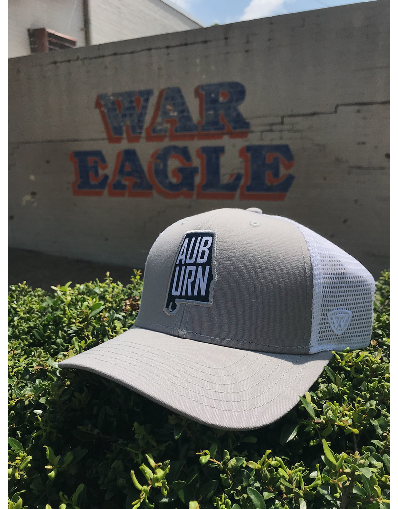 Top of the World State Outline AUBURN Two-Tone Mesh Hat