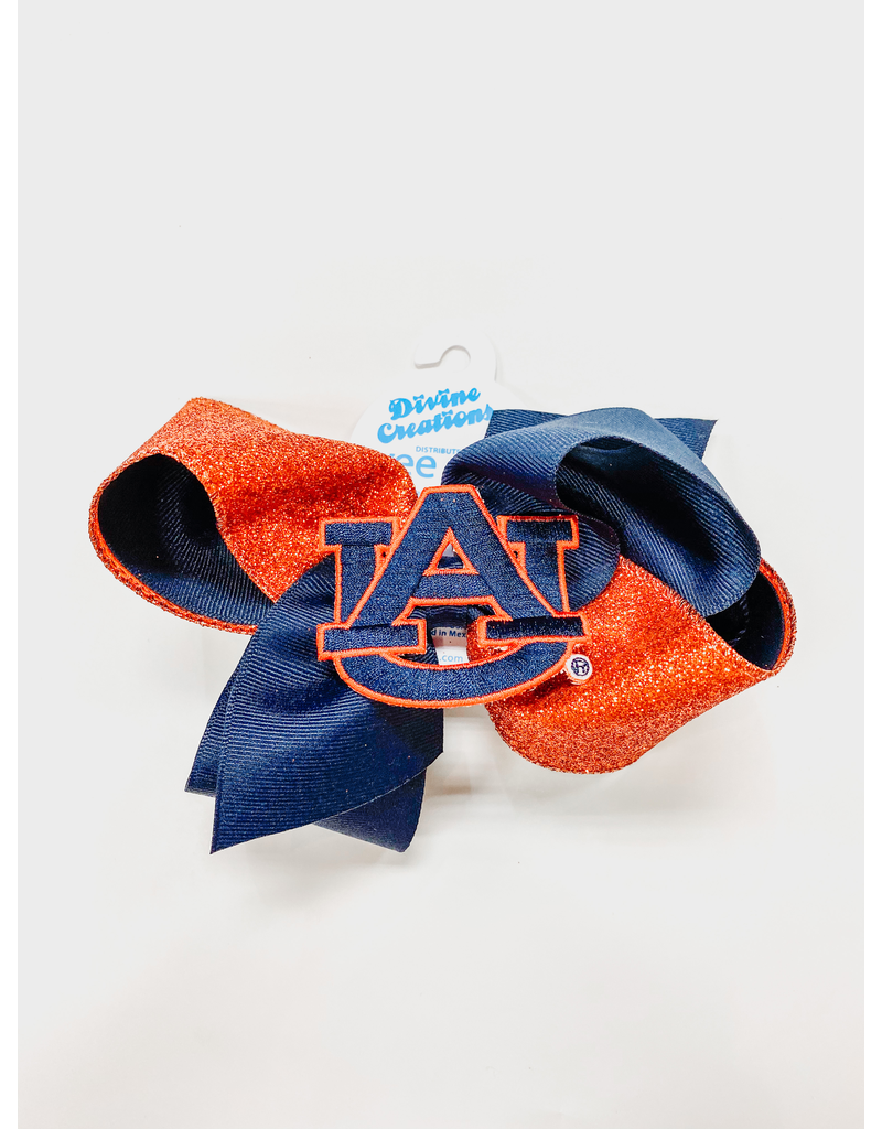 Divine Creations Large Glitter Bow with AU Patch