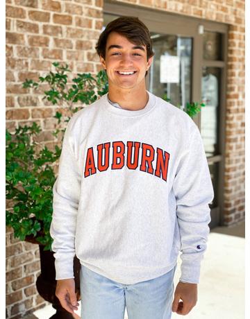 Champion Arch Auburn Reverse Weave Crew