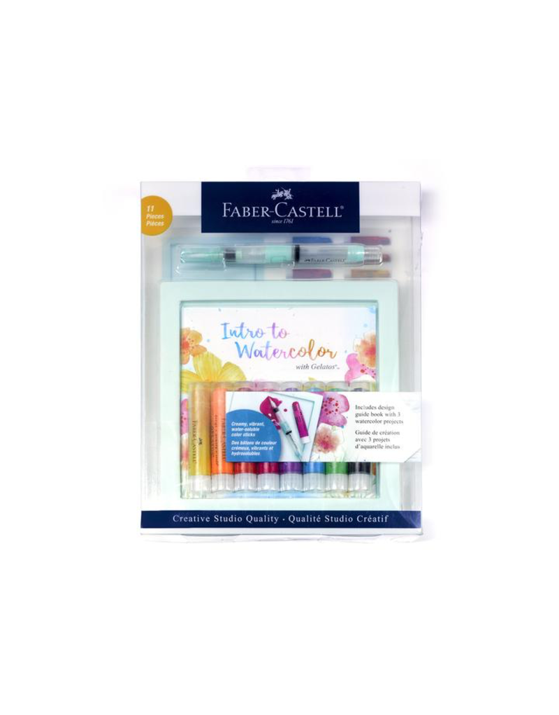 Faber Castell Gelatos Intro to Watercolors Set  11 piece