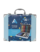 MacPherson Drawing Art Box 36PC includes drawing/colored pencils, sharpeners and erasers.