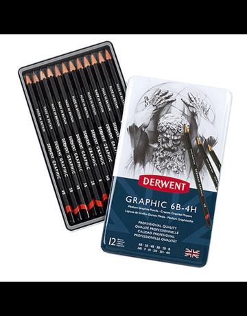 MacPherson Graphic Design Pencil 12 set tin 6B-4H