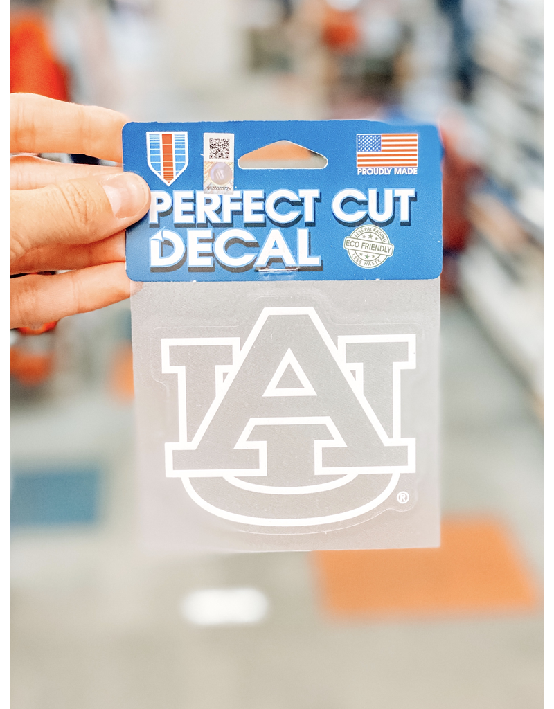 Wincraft White Outline Clear AU Perfect Cut Decal