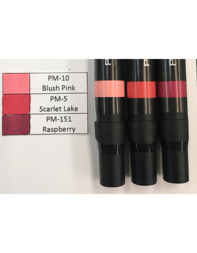 J&M Prismacolor Red Graded Set 1-PM-10, PM-5, and PM-151