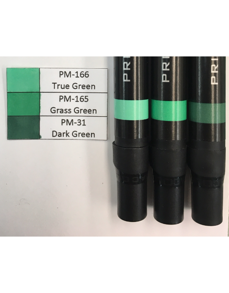 J&M Prismacolor Green Graded Set 2-PM-166, PM-165, and PM-31