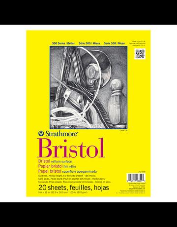 MacPherson Bristol Paper Pad 300 Series 9x12 20 sheets/pad Vellum surface