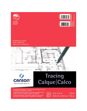 Canson Tracing Pad #25 14X17 50Sh