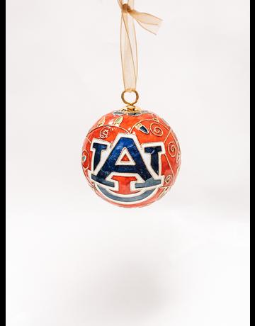 Kitty Keller Designs AU Multi-Colored Lights Orange Ornament